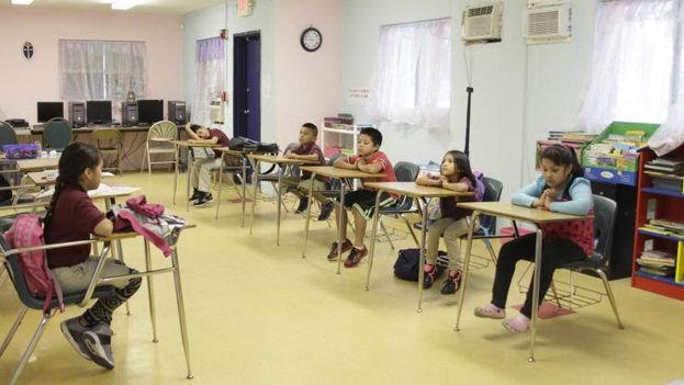 Un aula del centro educativo LaSalle en Homestad. (Cortesía)