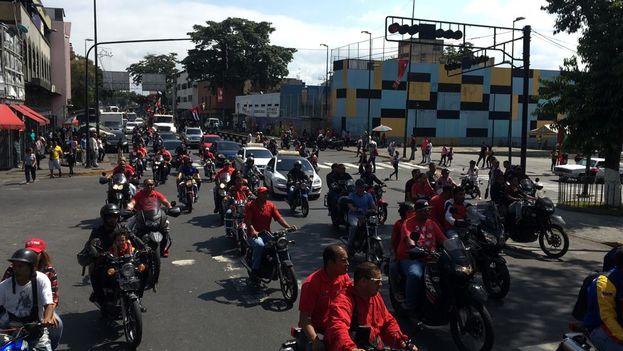 Los colectivos recorren desde el 23 de Enero hasta el centro de Caracas. (Miguel Gutiérrez/NTN24ve)