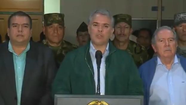 El presidente colombiano reiteró que el régimen de Maduro protege a los cabecillas de la guerrilla del ELN y disidentes de las FARC. (Captura)