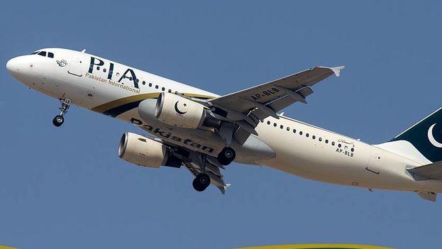 Un avión de la compañía Pakistan International Airlines. (Facebook)