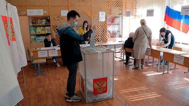Este domingo concluyó el proceso electoral en Rusia. (EFE)