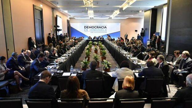 La conferencia por la democracia en Venezuela quedó marcada por una fricción evidente entre algunos de los invitados y la organización. (Cancillería de Perú)