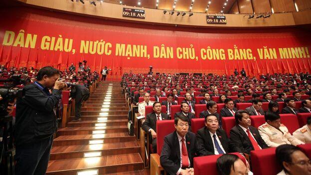 Un congreso del Partido Comunista de Vietnam. (EFE)