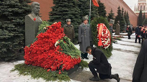El acto de hoy conmemoraba los 66 años de la muerte de Stalin. (Znak.com)