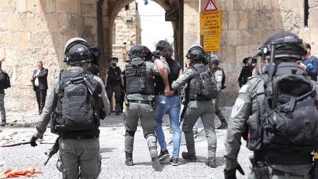 Se espera un día tenso este lunes por la conmemoración israelí del Día de Jerusalén. (EFE/EPA/Abir Sultan)