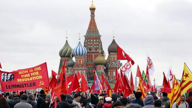 Esta efemérides ha sido conscientemente relegada por el Kremlin y solo los comunistas tienen previsto celebrarla. (EFE)
