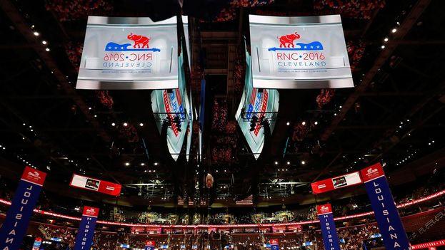 La convención republicana dio comienzo este lunes en Cleeveland, Ohio. (Twitter)