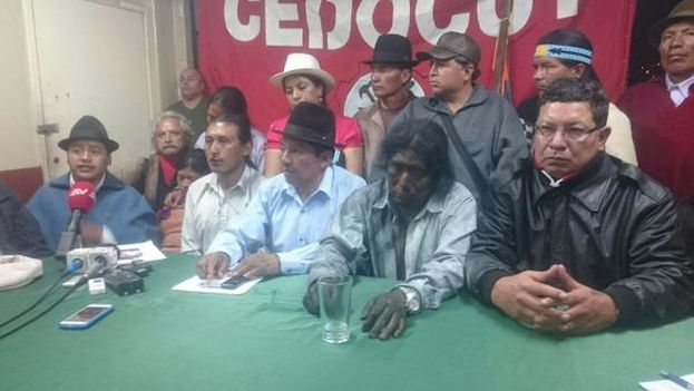 Los convocantes del paro nacional denunciaron las agresiones sufridas y llamaron a seguir manifestándose contra el Gobierno. (@CONAIE_Ecuador)