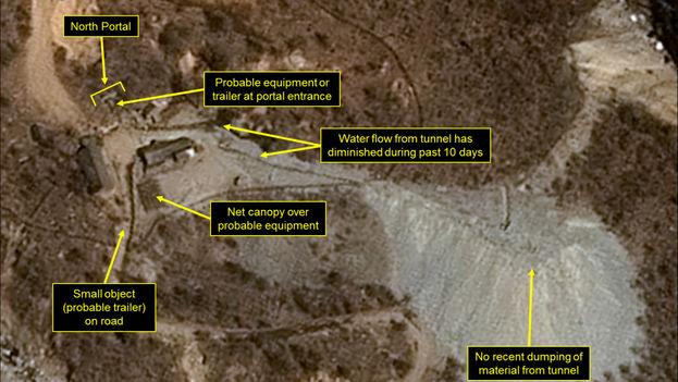 Fotografía del complejo nuclear Punggye-ri, en Corea del Norte. (north38)