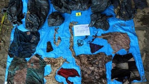 La fosa tiene unos 300 metros cuadrados y los restos llevan aproximadamente dos años inhumados. (Fiscalía de Veracruz)