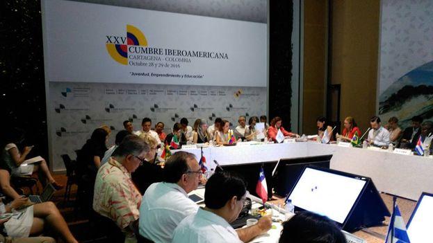 La declaración de Cartagena quedó lista para que los presidentes y jefes de Estado la refrenden mañana al cierre de esta XXV Cumbre. (SEGIB)