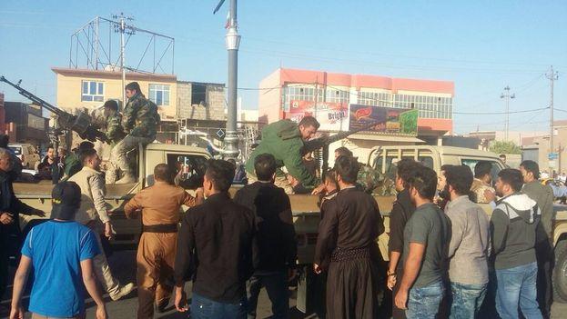 Las tropas kurdas están listas para defender la ciudad según el vicepresidente del Kurdistán iraquí. (@aminahekmet)