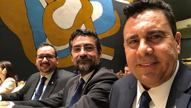 La delegación venezolana en la ONU se moestraba feliz de haber logrado sacar adelante su candidatura. (@SMoncada_VEN)