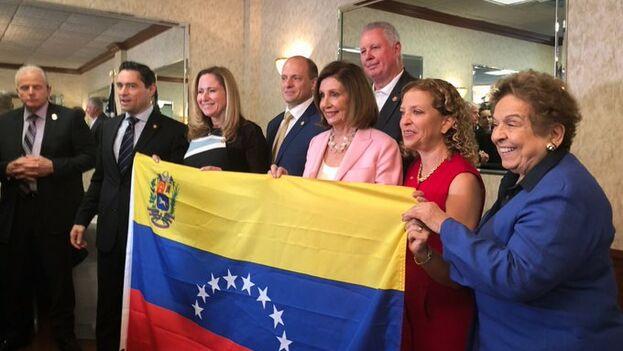 La líder de los demócratas en la Cámara de Representantes participó en un encuentro en la ciudad floridana de Weston con la comunidad venezolana. (NancyPelosi)