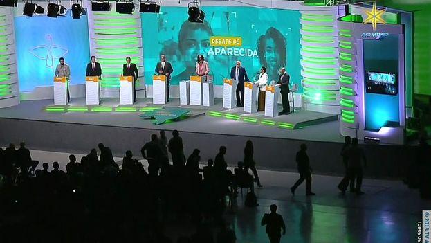 El debate se desarrolló nuevamente con la ausencia del candidato líder en las encuestas, Jair Bolsonaro. (RealitySocial)