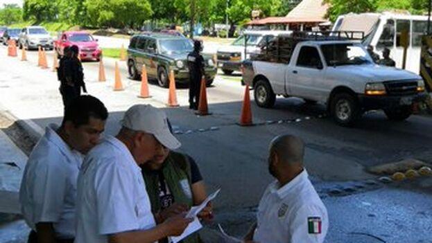 La cónsul fue detenida en un control en San Pedro Tapanatepec. (INAMI_mx)