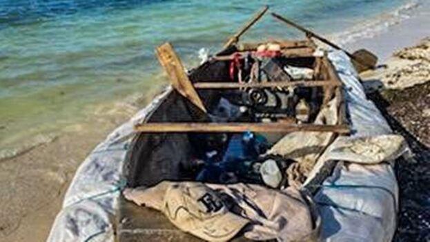 No se informó si los balseros serán devueltos a la Isla en los próximos días. (Patrulla Fronteriza)