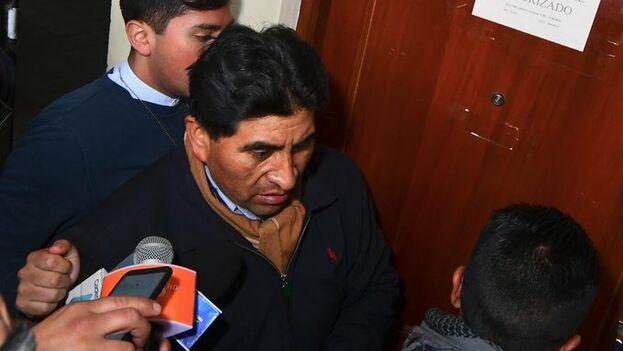 Según su abogado, se dictaron seis meses de prisión preventiva para César Cocarico. (rtp_Bolivia)