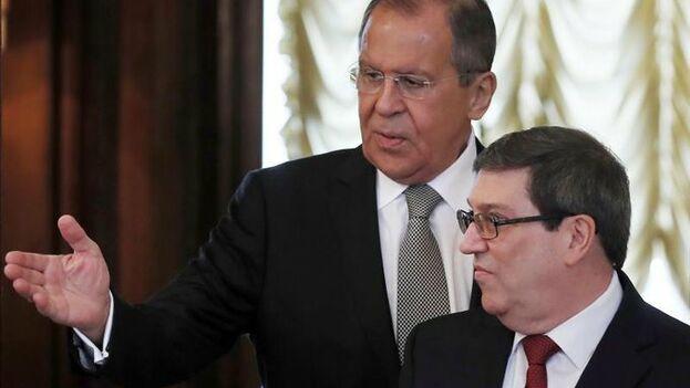 Los jefes de la diplomacia rusa y cubana firmaron un plan de consultas políticas ministeriales para el periodo 2020-2022. (EFE)
