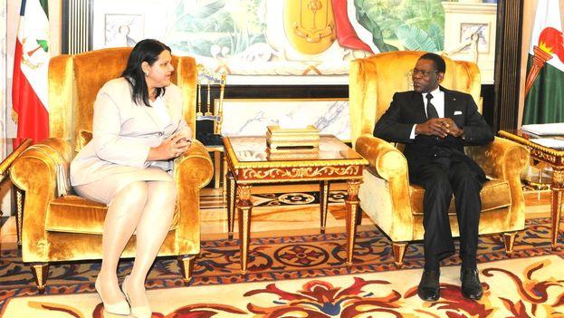 La visita de la presidenta cubana se enmarca en la celebración del 45 anversario de las relaciones diplomáticas entre Cuba y Guinea Ecuatorial. (@CubaMINREX)