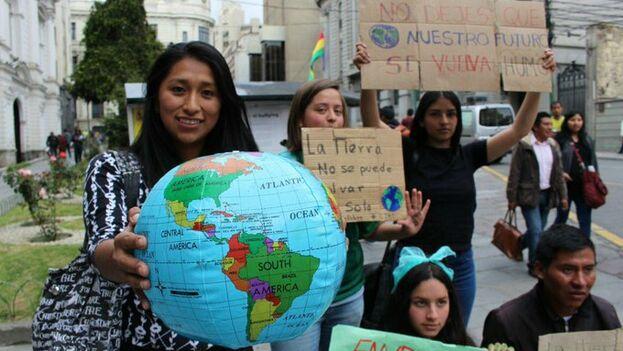 Los dirigentes llegan a la cita presionados por la calle tras las masivas movilizaciones protagonizadas el pasado viernes por jóvenes de todo el mundo. (Unicef)