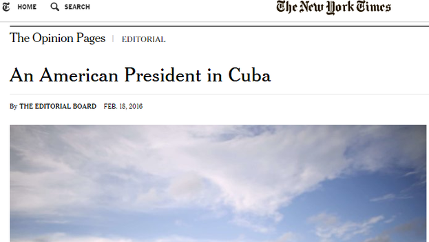 El editorial de 'The New York Times'.
