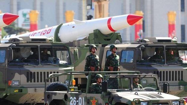 El ejército chino durante un desfile militar. (EFE)