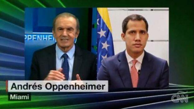 """""""Nosotros tendríamos que empujar y hacer todo lo posible para tener una elección realmente libre"""", reclamó Juan Guaidó. (Captura/CNN)"""