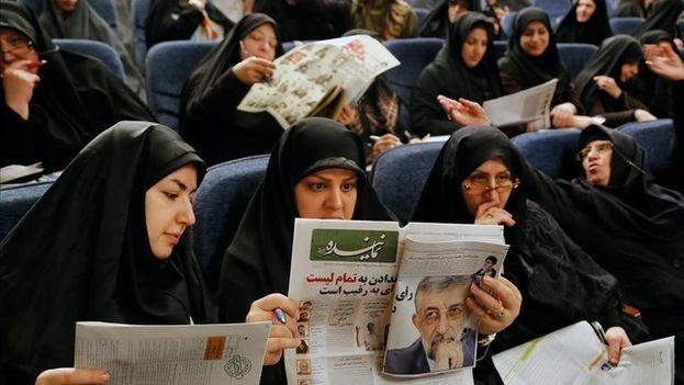 La campaña para las elecciones fue feroz entre reformistas y conservadores en las elecciones de Irán. (EFE)
