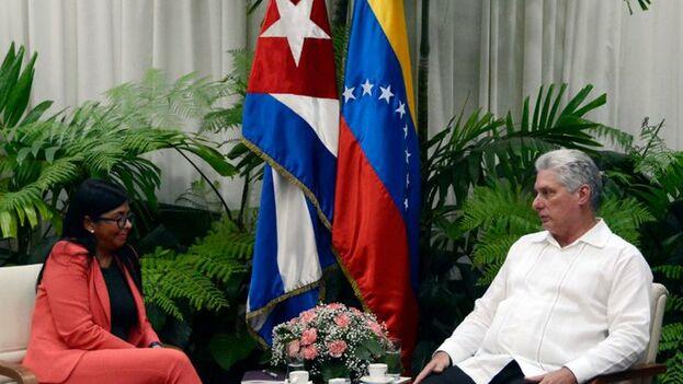 El encuentro entre Diaz-Canel y Rodríguez se produjo el martes, aunque trascendió un día después. (@DrodriguezVen)