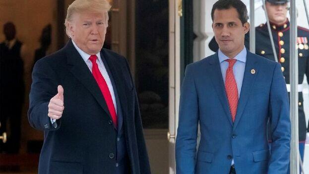El encuentro, el primero entre ambos, se produce un día después de que Trump invitara a Guaidó a su discurso sobre el Estado de la Unión. (EFE)