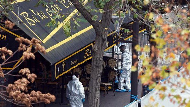 La sala de espectáculos parisina Bataclan tras los atentados terroristas. (EFE)