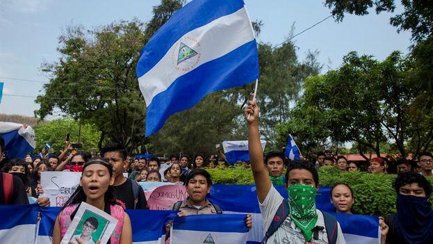 """El proceso contra los estudiantes se da en medio de una crisis sociopolítica que ha dejado entre 552 y 558 """"presos políticos"""" tras manifestaciones contra Ortega. (EFE)"""