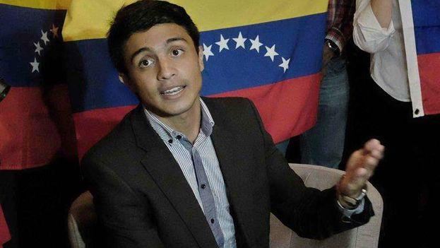 El exdirigente estudiantil Lorent Saleh estaba detenido desde septiembre de 2014. (EFE)