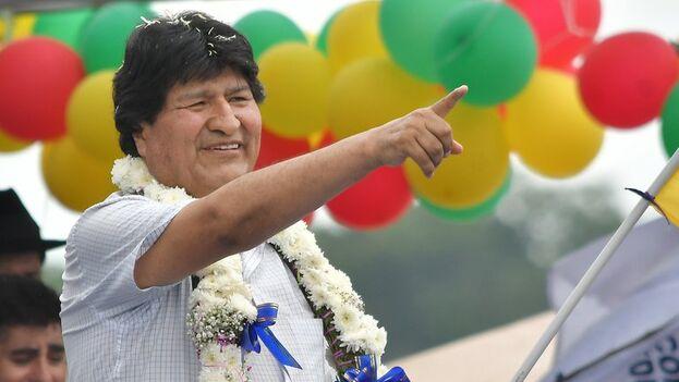 El exmandatario boliviano Evo Morales reasumió este martes la presidencia plena de su partido. (EFE/Jorge Abrego)