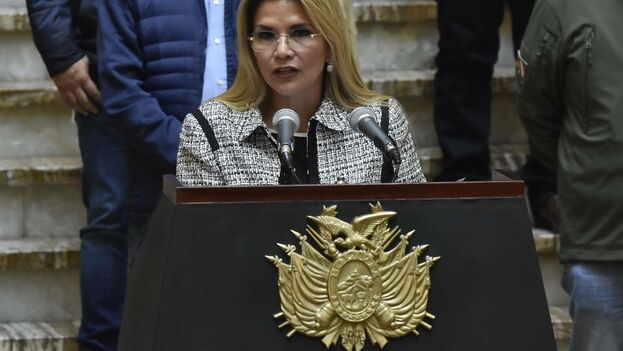 La expresidenta interina de Bolivia, Jeanine Áñez. (EFE/Str/Archivo)