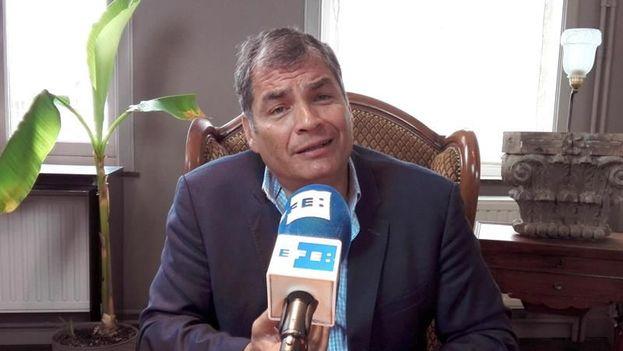 En la imagen un registro del expresidente de Ecuador Rafael Correa. (EFE/Archivo)