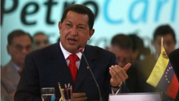 El expresidente venezolano, Hugo Chávez, en la V  Cumbre de Petrocaribe. (Petrocaribe)