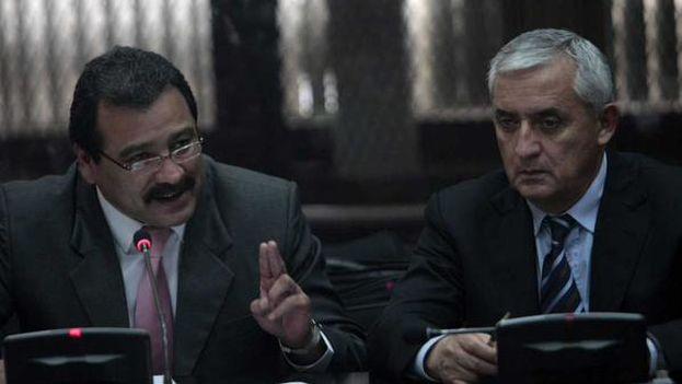 El expresidente guatemalteco salio directamente desde los tribunales hacia prisión, donde permanecerá al menos hasta diciembre. (captura RTVE)