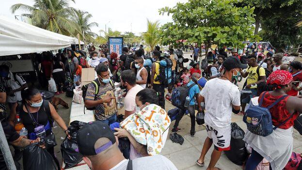 Los migrantes haitianos pueden llegar a ser extorsionados con pagos que superan los 1.000 dólares. (EFE/ Mauricio Duenas Castañeda/Archivo)