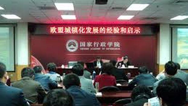 Los funcionarios cubanos reciben instrucción en la Chinese Academy of Governance. (CMR/CC)