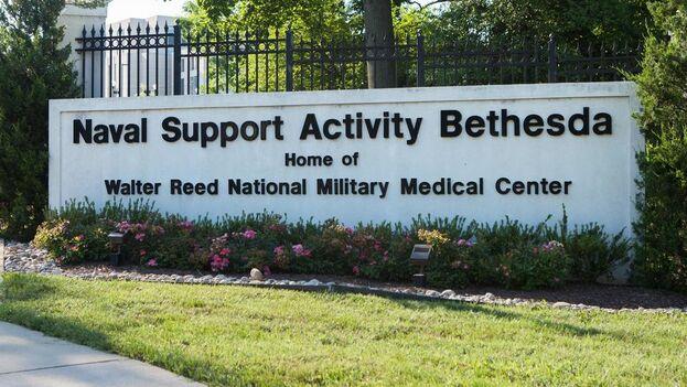 Los funcionarios son atendidos de los posibles daños cerebrales en el hospital militar Walter Reed. (EFE)