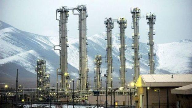 Una vista general del reactor de agua pesada iraní en la ciudad de Arak, Irán.(EFE)