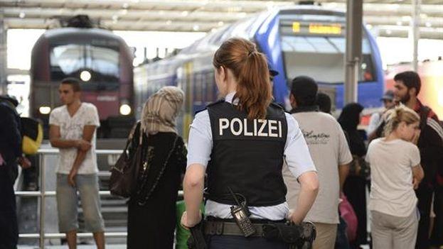 Un grupo de refugiados sirios en Alemania. (EFE)