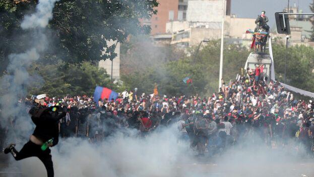 El hartazgo se ha expresado con fuerza en la primera jornada de huelga general convocada para este miércoles. (EFE)
