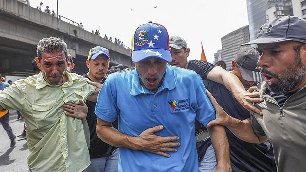 El gobernador del estado de Miranda, Henrique Capriles, quien recientemente fue inhabilitado por las autoridades venezolanas. (Vértice)