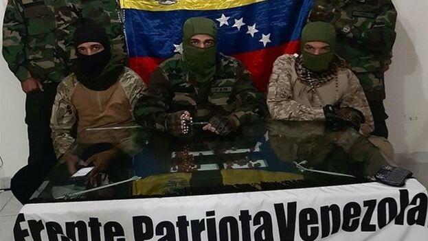 Un presunto grupo armado que se identificó como Frente Patriota Venezolano asumió la autoría del suceso en un vídeo divulgado en las redes sociales. (captura)