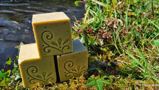 En la imagen, un jabón tradicional de Alepo hecho con aceite de oliva. (Redes)