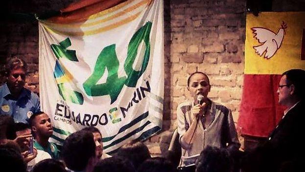 Una intervención pública de Marina Silva. (Imagen de su página Facebook)