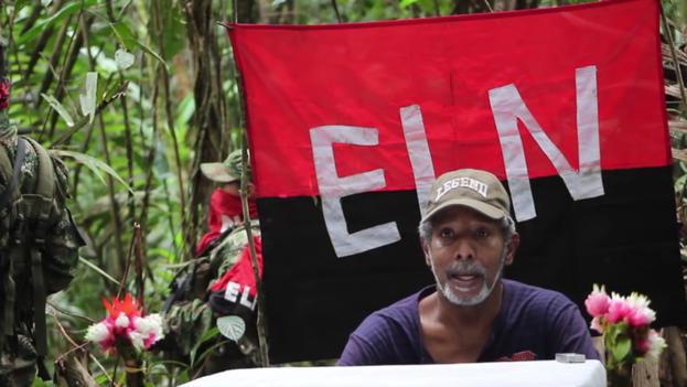 El excongresista colombiano Odín Sánchez Montes de Oca antes de ser liberado. (youtube.com)